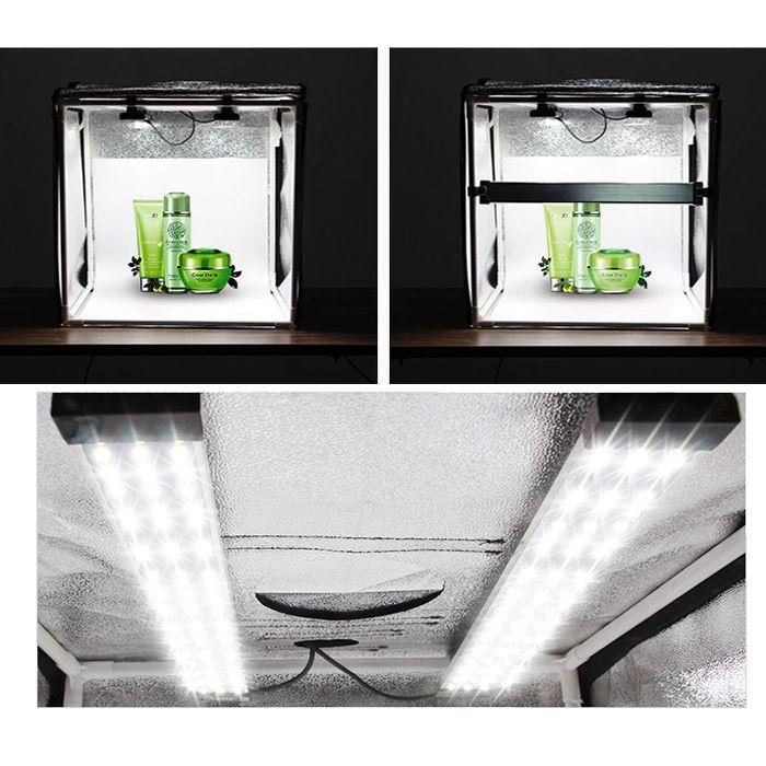 Mini Estúdio Fotográfico Portátil 60x60x60 - 126 Leds  - Diafilme Materiais Fotográficos
