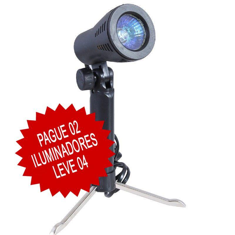 Mini Estudio Fotografico Portatil 60x60x60 - 4x50W Halogena  - Diafilme Materiais Fotográficos