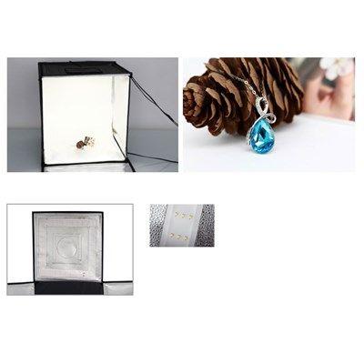 Mini Estúdio Fotográfico Portátil 60x60x60 - LED e Placa Reflexão  - Diafilme Materiais Fotográficos