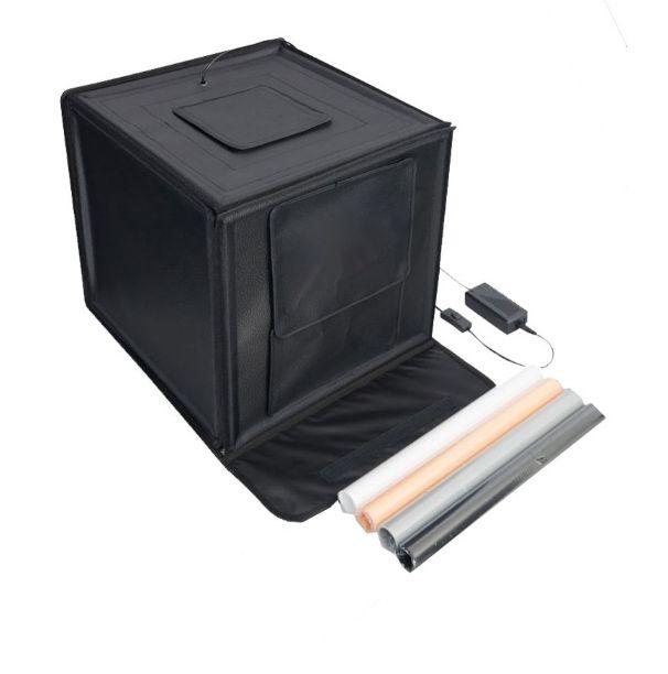 Mini Estúdio Fotográfico Portátil 60x60x60 - LED - LT005  - Diafilme Materiais Fotográficos