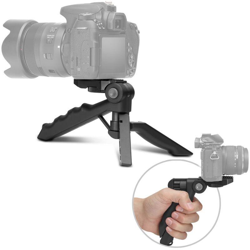Mini Tripé de Mesa Dobrável para DSLR Pistol Grip - TM07 - 10,0cm  - Diafilme Materiais Fotográficos
