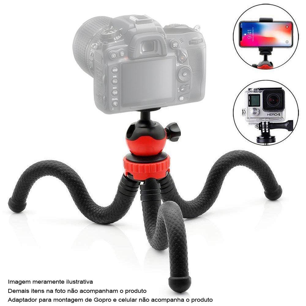 Mini Tripé de Mesa Flexível para DSLR - TT01 - 30,0cm  - Diafilme Materiais Fotográficos