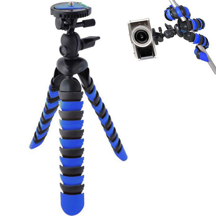 Mini Tripé de Mesa Flexível - TT281 - 28cm Azul  - Diafilme Materiais Fotográficos