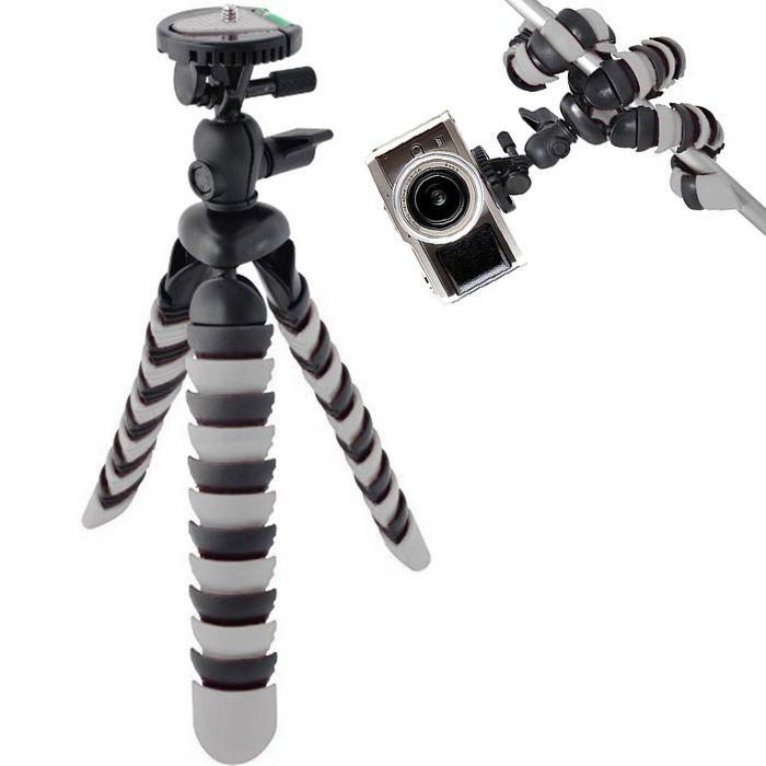 Mini Tripé de Mesa Flexível - TT281 - 28cm Cinza  - Diafilme Materiais Fotográficos