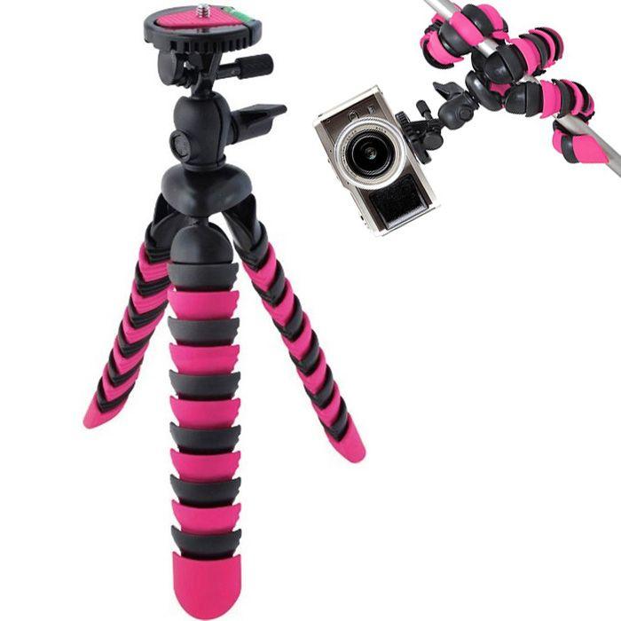 Mini Tripé de Mesa Flexível - TT281 - 28cm Rosa  - Diafilme Materiais Fotográficos