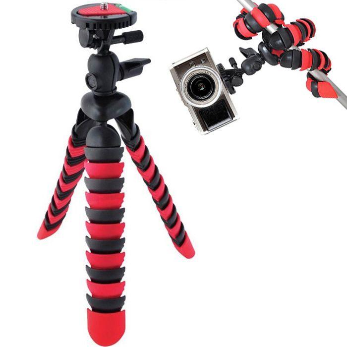 Mini Tripé de Mesa Flexível - TT281 - 28cm Vermelho  - Diafilme Materiais Fotográficos