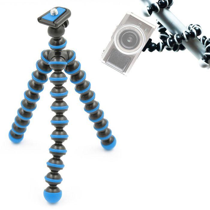Mini Tripé de Mesa Flexível - TT813 - 26,5cm Azul Claro  - Diafilme Materiais Fotográficos