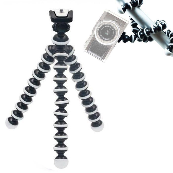 Mini Tripé de Mesa Flexível - TT813 - 26,5cm Branco  - Diafilme Materiais Fotográficos
