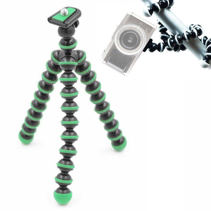 Mini Tripé de Mesa Flexível - TT813 - 26,5cm Verde  - Diafilme Materiais Fotográficos