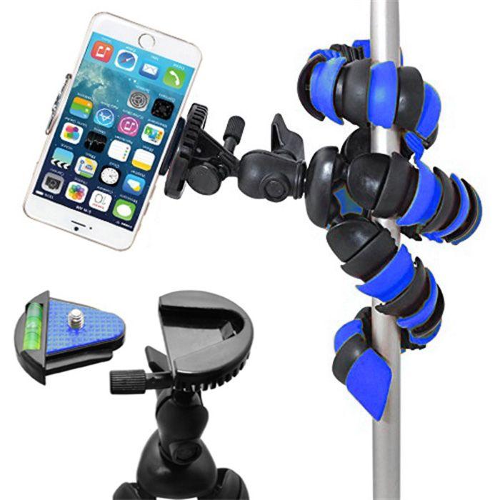 Mini Tripé Flexível Gopro Smartphone - TT281 - 28cm Azul  - Diafilme Materiais Fotográficos