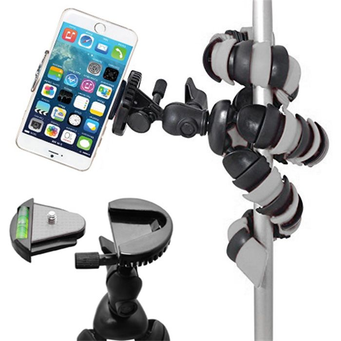 Mini Tripé Flexível Gopro Smartphone - TT281 - 28cm Cinza  - Diafilme Materiais Fotográficos
