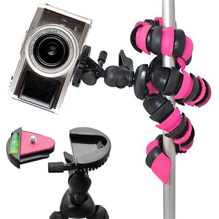 Mini Tripé Flexível Gopro Smartphone - TT281 - 28cm Rosa  - Diafilme Materiais Fotográficos