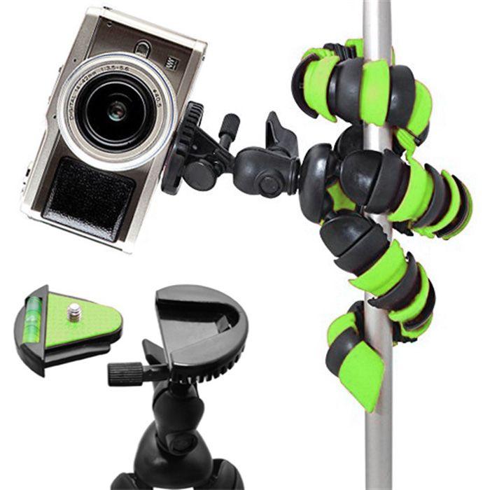 Mini Tripé Flexível Gopro Smartphone - TT281 - 28cm Verde  - Diafilme Materiais Fotográficos