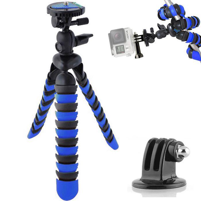 Mini Tripé Flexível Gopro - TT281 - 28cm Azul  - Diafilme Materiais Fotográficos