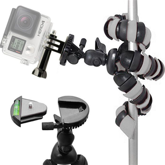 Mini Tripé Flexível Gopro - TT281 - 28cm Cinza  - Diafilme Materiais Fotográficos