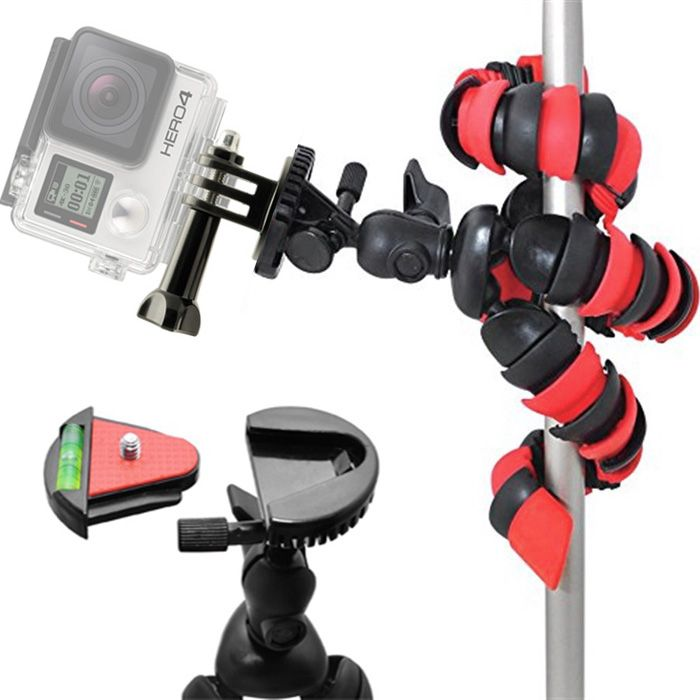 Mini Tripé Flexível Gopro - TT281 - 28cm Vermelho  - Diafilme Materiais Fotográficos