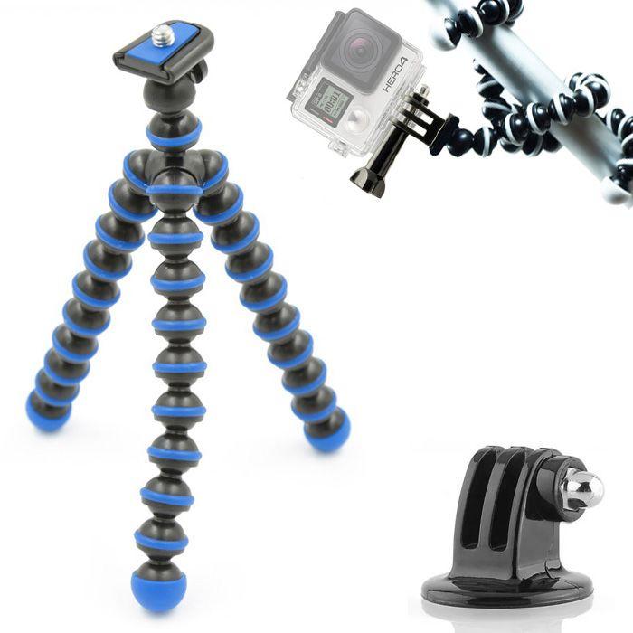 Mini Tripé Flexível GoPro - TT813 - 26,5cm Azul  - Diafilme Materiais Fotográficos