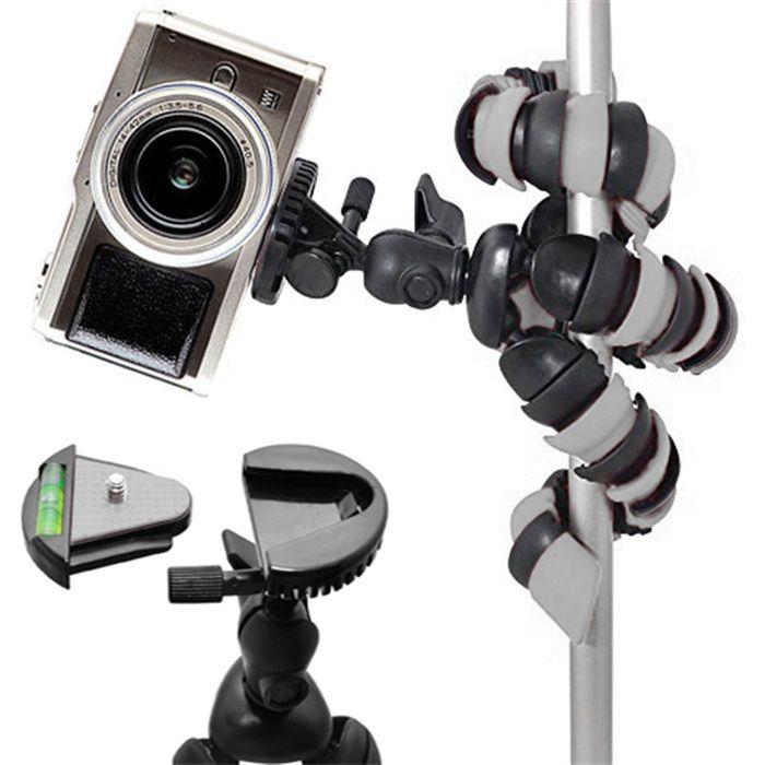 Mini Tripé Flexível Smartphone - TT281 - 28cm Cinza  - Diafilme Materiais Fotográficos