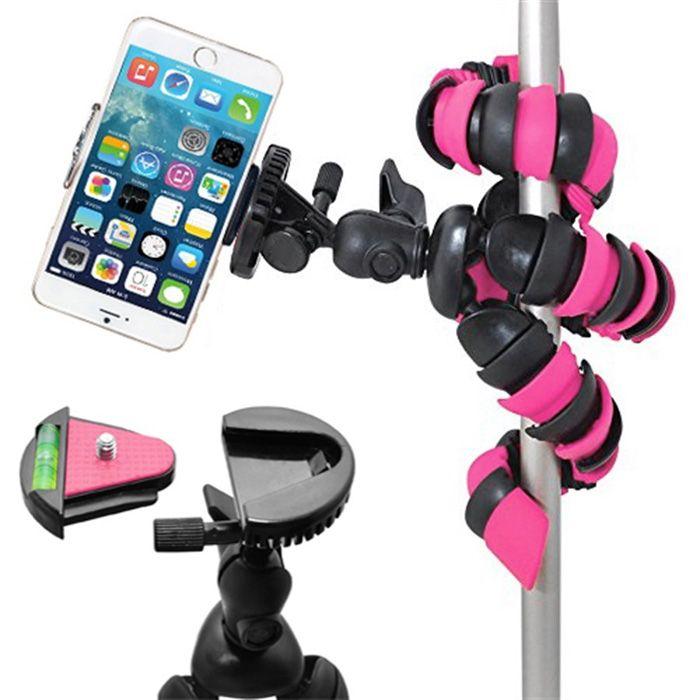 Mini Tripé Flexível Smartphone - TT281 - 28cm Rosa  - Diafilme Materiais Fotográficos