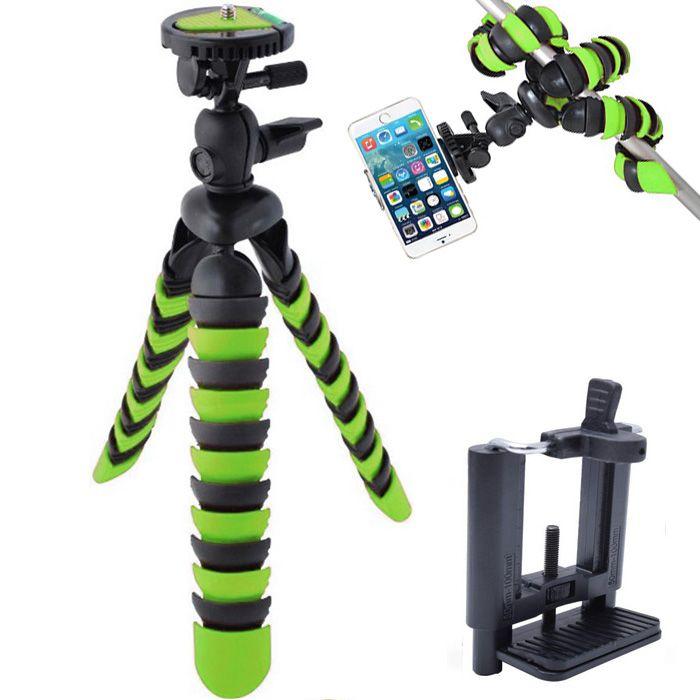 Mini Tripé Flexível Smartphone - TT281 - 28cm Verde  - Diafilme Materiais Fotográficos