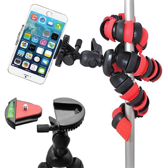 Mini Tripé Flexível Smartphone - TT281 - 28cm Vermelho  - Diafilme Materiais Fotográficos
