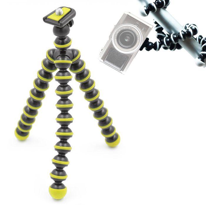 Mini Tripé Flexível Smartphone - TT813 - 26,5cm Amarelo  - Diafilme Materiais Fotográficos