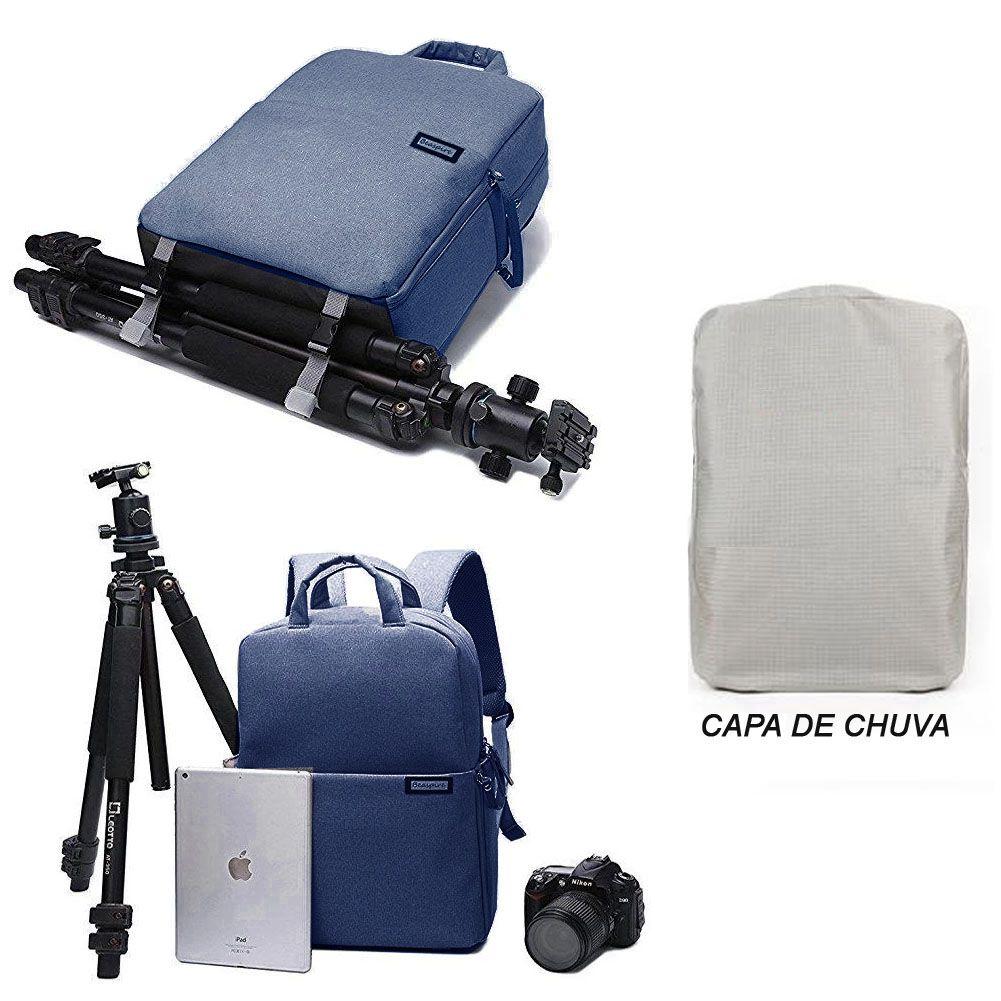 Mochila Câmera DSLR Vídeo Drone Laptop- Beaspire L5 - C30xP16xA37cm  - Diafilme Materiais Fotográficos