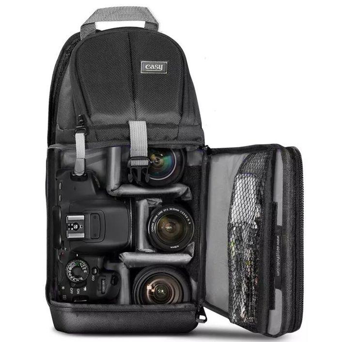 Mochila Câmera DSLR Filmadora - Easy EC 8803 - C20xP14xA38cm  - Diafilme Materiais Fotográficos