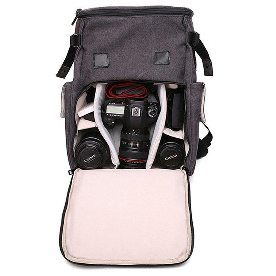 Mochila para Câmera DSLR ou Filmadora - Tigernu TX6008 - C30xP17xA44cm  - Diafilme Materiais Fotográficos