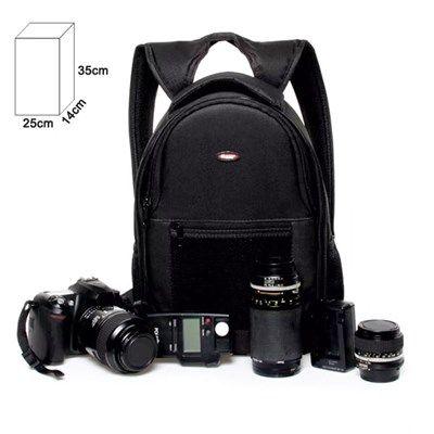 Mochila Câmera DSLR Filmadora - WEST JAMILY - C25xP14xA35cm  - Diafilme Materiais Fotográficos