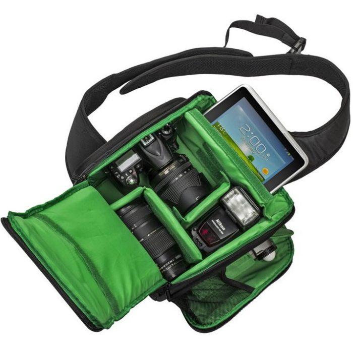 Mochila Sling Câmera DSLR ou Filmadora - Tigernu TS8022 - C25XP18XA30cm  - Diafilme Materiais Fotográficos