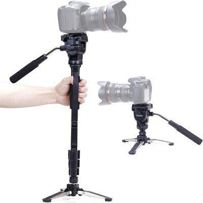 Monopé com Cabeça Fluida Câmera DSLR e Vídeo - Yunteng VCT-288 - 1,48m  - Diafilme Materiais Fotográficos