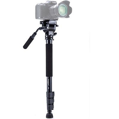 Monopé com Cabeça Fluida Câmera DSLR e Vídeo - Yunteng VCT-558 - 1,58m  - Diafilme Materiais Fotográficos