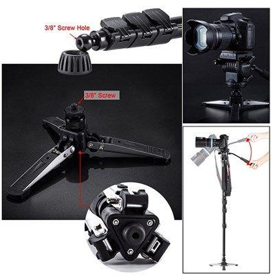 Monopé com Cabeça Fluida Câmera DSLR e Vídeo - Yunteng VCT-588 - 1,66m  - Diafilme Materiais Fotográficos