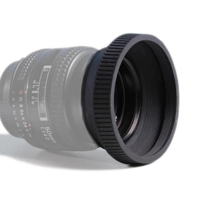 Parassol de Borracha para Objetiva DSLR - 49mm  - Diafilme Materiais Fotográficos