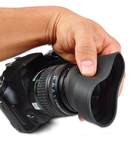 Parassol de Borracha para Objetiva DSLR - 58mm  - Diafilme Materiais Fotográficos