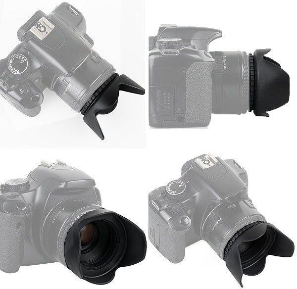Parassol Tulipa Universal para Objetivas DSLR - 58mm  - Diafilme Materiais Fotográficos