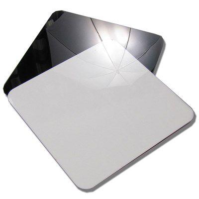 Placa de Reflexão Branco e Preto Reflection Board - 40x40cm  - Diafilme Materiais Fotográficos