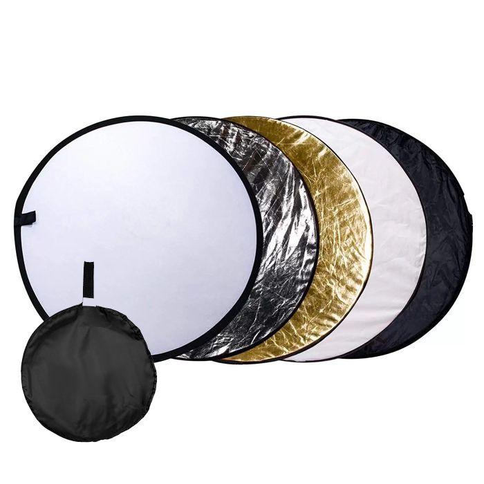 Rebatedor e Difusor Circular 5x1 para Estúdio - 105cm  - Diafilme Materiais Fotográficos