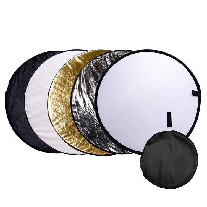 Rebatedor e Difusor Circular 5x1 para Estúdio - 60cm  - Diafilme Materiais Fotográficos