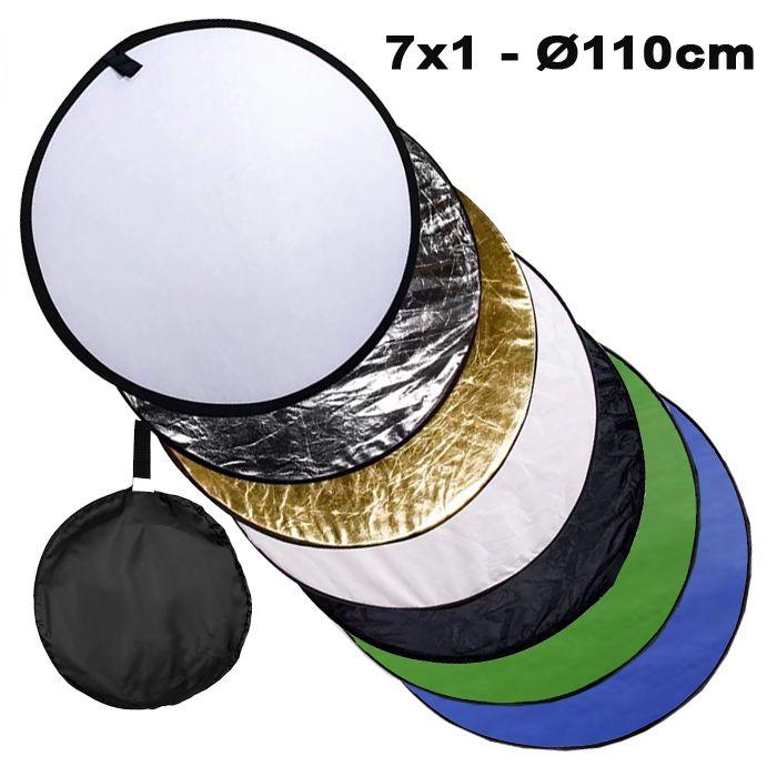 Rebatedor e Difusor Circular 7x1 para Estúdio - 110cm  - Diafilme Materiais Fotográficos