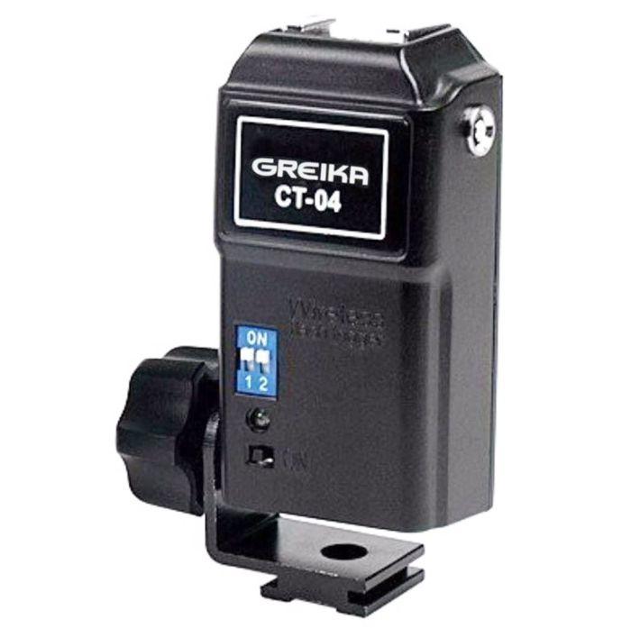 Receptor Rádio Flash Wireless Greika  CT-04 Canais  - Diafilme Materiais Fotográficos
