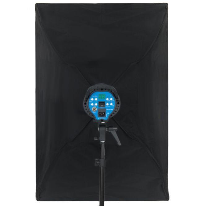 Softbox com Recuo para Flash de Estúdio - 60x90cm e GRID 4x4cm - Universal  - Diafilme Materiais Fotográficos