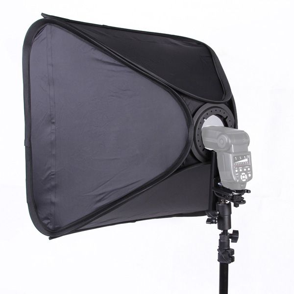 Softbox para Flash Dedicado Speedlight - 60x60cm  - Diafilme Materiais Fotográficos