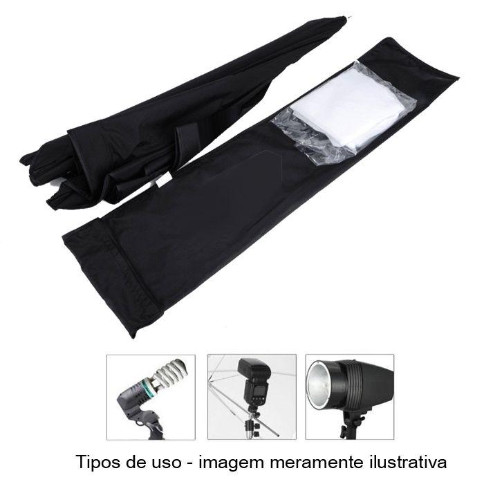 Softbox para Flash Studio, Dedicado ou Contínua tipo Sombrinha - 60x90cm  - Diafilme Materiais Fotográficos