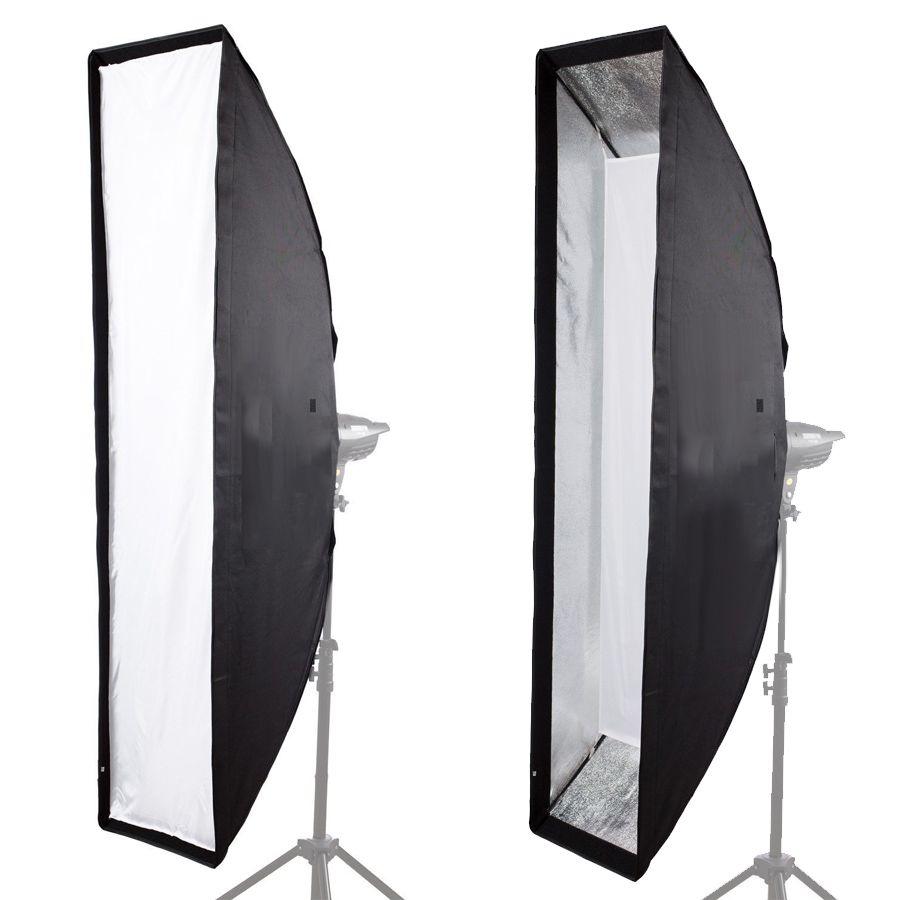 Softbox Strip com Recuo Flash de Estúdio - 30x90cm e GRID 4x4cm - Universal  - Diafilme Materiais Fotográficos