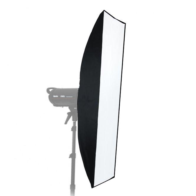 Softbox Strip sem Recuo Flash de Estúdio - 30x90cm - Universal  - Diafilme Materiais Fotográficos