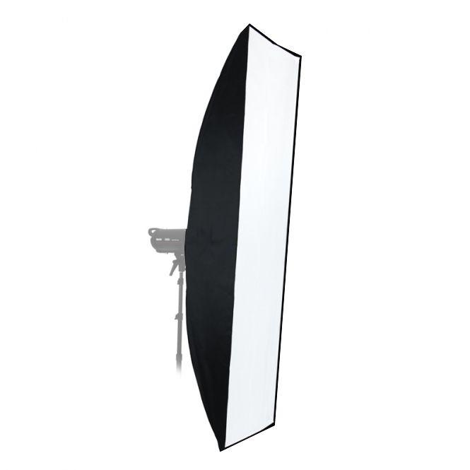 Softbox Strip sem Recuo Flash de Estúdio - 35x140cm - Universal  - Diafilme Materiais Fotográficos