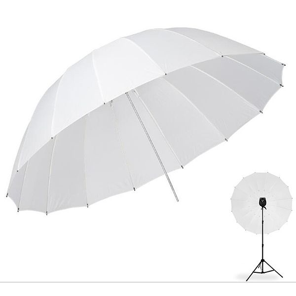 Sombrinha para Estúdio Fotográfico Difusora - 190cm  - Diafilme Materiais Fotográficos