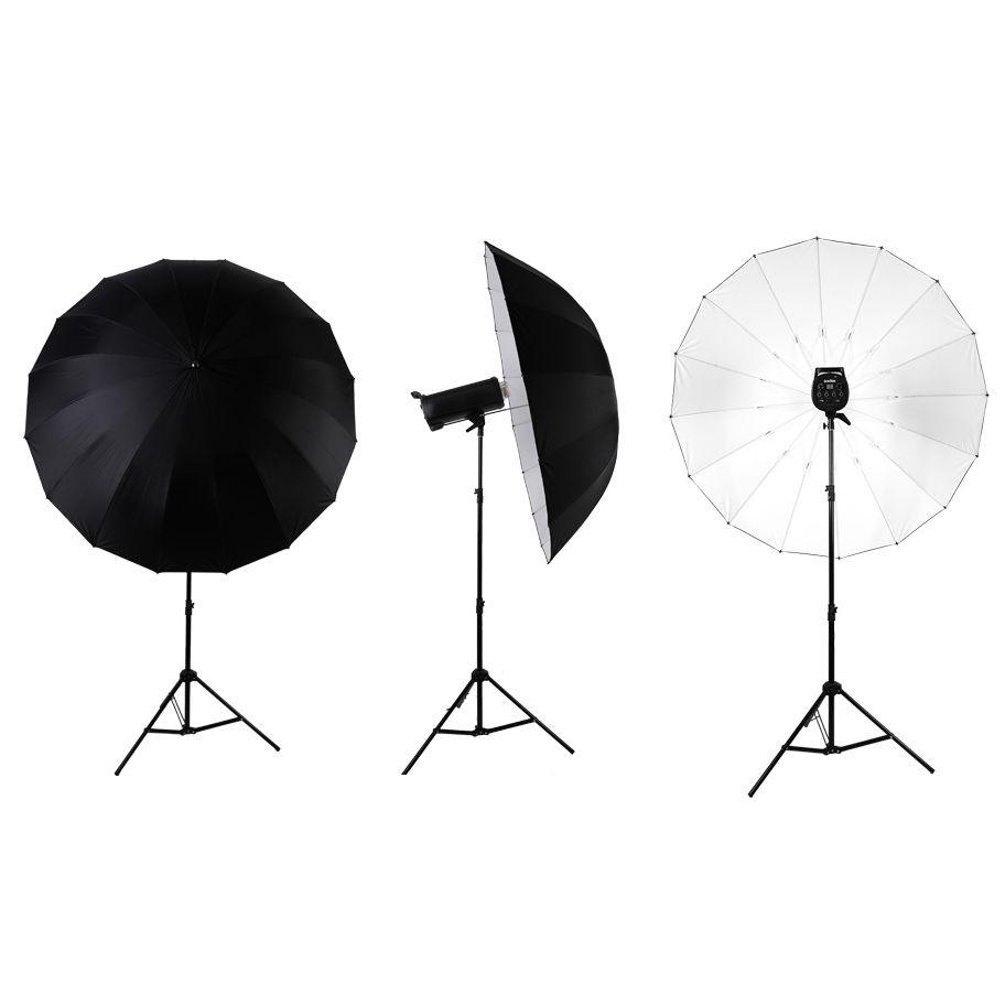Sombrinha para Estúdio Fotográfico Rebatedora Branca - 190cm  - Diafilme Materiais Fotográficos